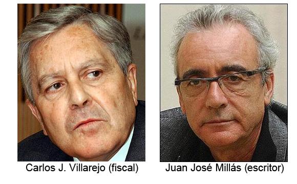 Juan José Millás y el jurista Jiménez Villarejo